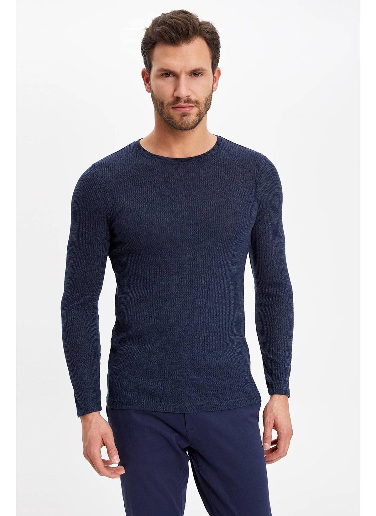 Defacto Uzun Kollu Kaşkorse Slim Fit T-shirt K0120az19spnv57t-shirt – 44.99 TL